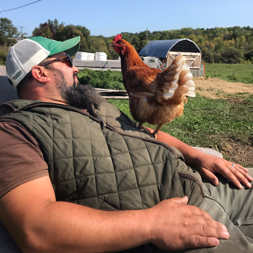 ADK Farmer Dan and Hen-rietta
