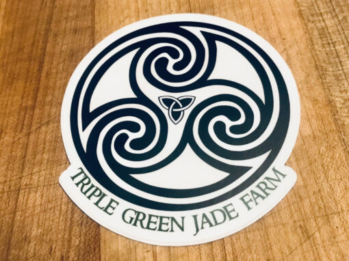 triple-green-jade-farm-sticker