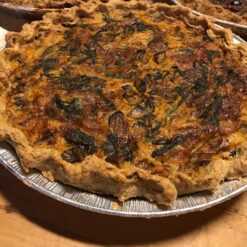 Quiche made with local flour