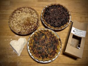 Pies made with organic pastry flour